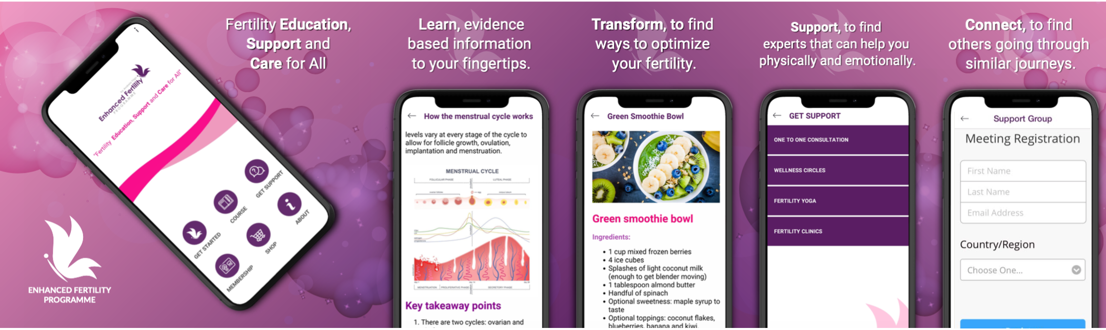 Enhanced Fertility Programme App