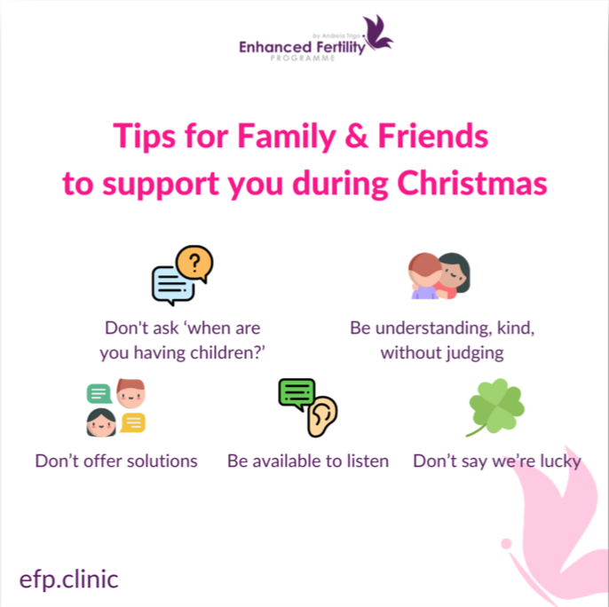 Tips for family to support you during christmas